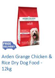 Arden Grange Chicken & Rice Dry Dog Food - 12kg